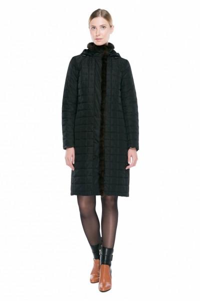 Женское пальто с норкой, синтепон, арт. 1170, Steinberg, Австрия