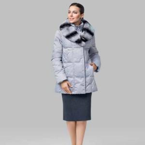 Женская куртка. искусственный пух, мех кролик
